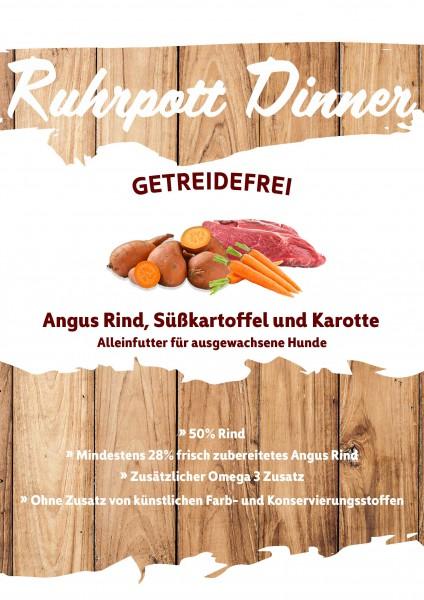 Ruhrpott Dinner Angus Rind, Süßkartoffel und Karotte