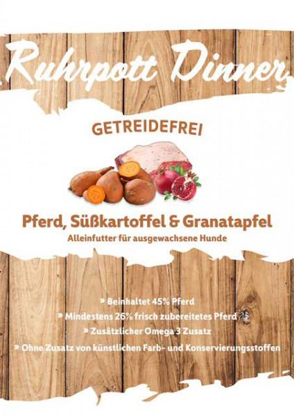 Ruhrpott Dinner Pferd, Süßkartoffel & Granatapfel