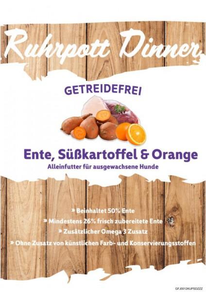 Ruhrpott Dinner Ente mit Süßkartoffel und Orange