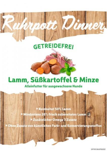 Ruhrpott Dinner Lamm Süßkartoffel und Minze