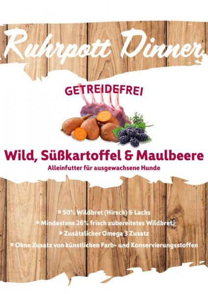 Ruhrpott Dinner Wild Süßkartoffel und Lachs