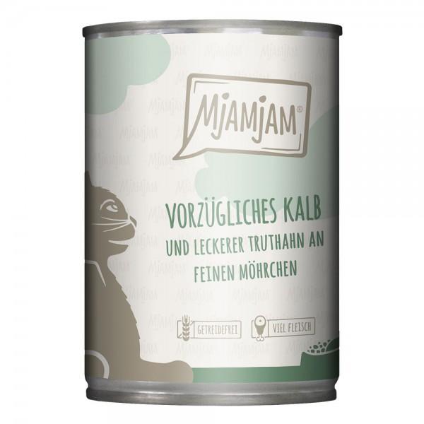 MjAMjAM -vorzügliches Kalb & Truthahn an leckeren Möhrchen